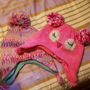 2 children's place girl winter hats